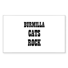 BURMILLA CATS ROCK Rectangle Decal