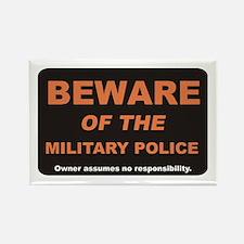 Beware / Military Policeman Rectangle Magnet