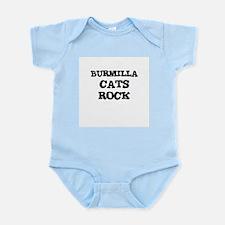 BURMILLA CATS ROCK Infant Creeper