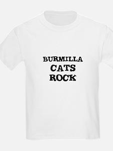 BURMILLA CATS ROCK Kids T-Shirt