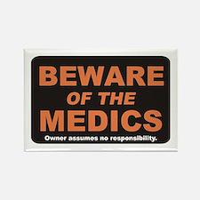 Beware / Medic Rectangle Magnet