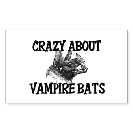 Crazy About Vampire Bats Rectangle Sticker