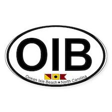Ocean Isle Beach NC - Oval Design Decal
