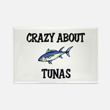 Crazy About Tunas Rectangle Magnet