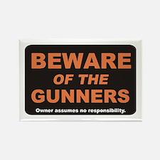Beware / Gunner Rectangle Magnet