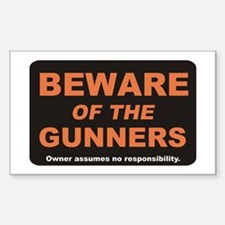 Beware / Gunner Rectangle Decal