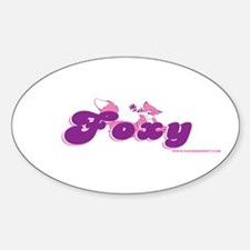 Foxy Oval Decal