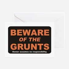 Beware / Grunt Greeting Card