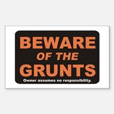 Beware / Grunt Rectangle Decal