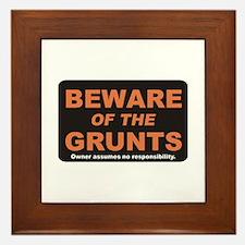 Beware / Grunt Framed Tile