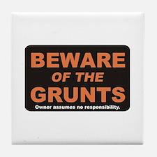 Beware / Grunt Tile Coaster