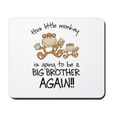 big brother t-shirts monkey Mousepad