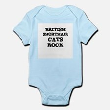 BRITISH SHORTHAIR  CATS ROCK Infant Creeper