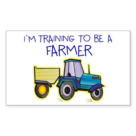 I'm Training To Be A Farmer Rectangle Sticker