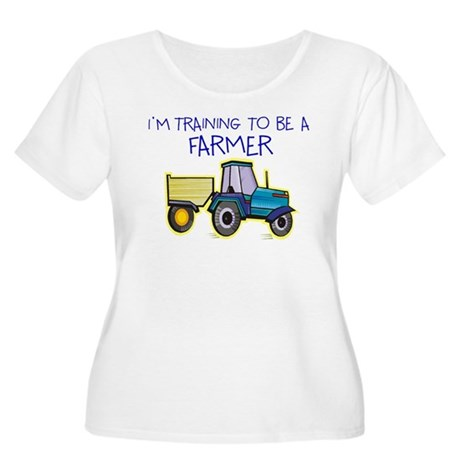 I'm Training To Be A Farmer Women's Plus Size Scoo