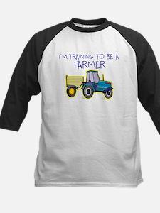 I'm Training To Be A Farmer Kids Baseball Jersey