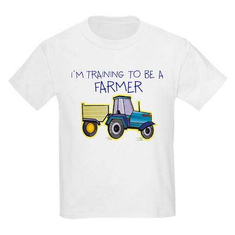 I'm Training To Be A Farmer Kids Light T-Shirt