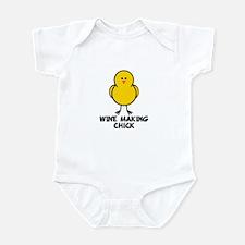Wine Making Chick Infant Bodysuit