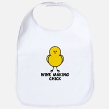Wine Making Chick Bib