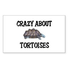 Crazy About Tortoises Rectangle Decal