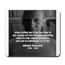 Social Criticism: Foucault Mousepad