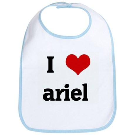 I Love ariel Bib