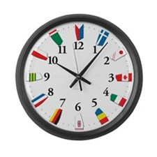 Oars around the world-Wall Clock