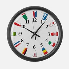 Oars around the world-Wall Clock