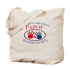 Best Papou Hands Down Tote Bag