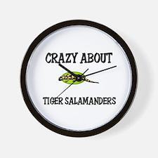 Crazy About Tiger Salamanders Wall Clock
