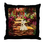Path / Scottie (w) Throw Pillow