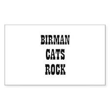 BIRMAN CATS ROCK Rectangle Decal