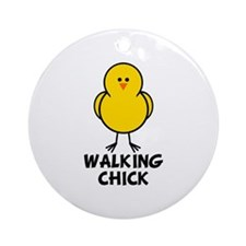 Walking Chick Ornament (Round)