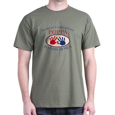Best Poppa Hands Down Dark T-Shirt