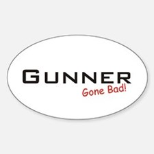 Bad Gunner Oval Decal