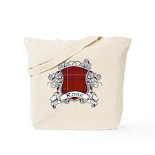 Rose Tartan Shield Tote Bag