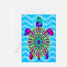 Colorful Sea Turtle Greeting Cards (Pk of 10)