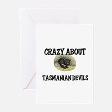 Crazy About Tasmanian Devils Greeting Cards (Pk of