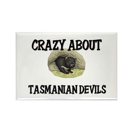 Crazy About Tasmanian Devils Rectangle Magnet (10