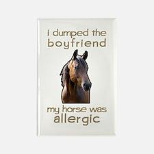 Boyfriend Allergic Horse Rectangle Magnet
