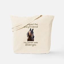 Boyfriend Allergic Horse Tote Bag