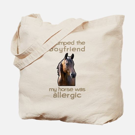 Boyfriend Allergic Horse Tote Bag
