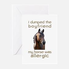 Boyfriend Allergic Horse Greeting Cards (Pk of 10)