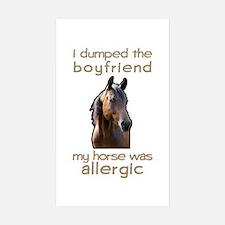 Boyfriend Allergic Horse Rectangle Sticker 10 pk)