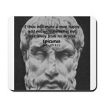 Epicurus Self Control Mousepad