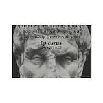 Epicurus Self Control Rectangle Magnet