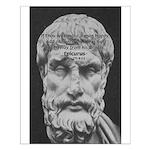Epicurus Self Control Small Poster