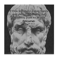 Epicurus Self Control Tile Coaster