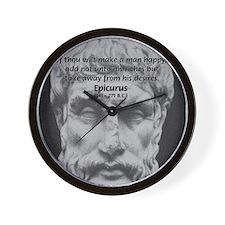 Epicurus Self Control Wall Clock