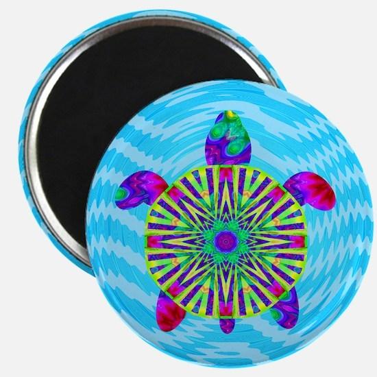 Colorful Sea Turtle Magnet